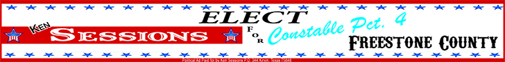 Elect Ken Sessions for Constable Pct. 4 Freestone County