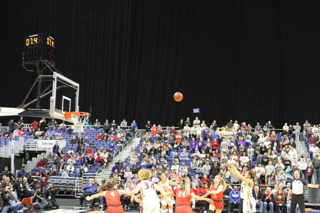 Jada Clark hits the clinching free throw in overtime, helping seal a 40-39 4A State title win.
