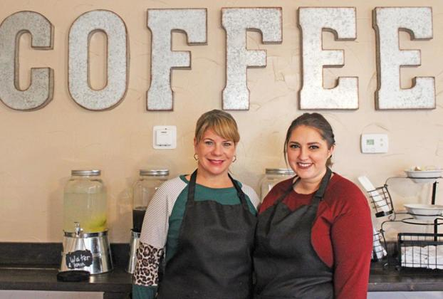 Enjoy a wonderful cup of coffee, breakfast or lunch at Cafe Around the Corner. Manager Lisie Thomas, along with LaCosta Carlson, Holly Kersten, Natalie Easter and owner Sheila Raye will always make you feel welcome. Photo by Shelly Pope