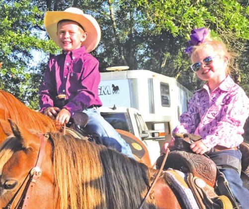 Miles Yates Manahan and Cealy Anne Manahan were all smiles ahead of the 2020 Youth Rodeo in memory of their uncle, Yates Manahan. Photo by Mitchell Pate