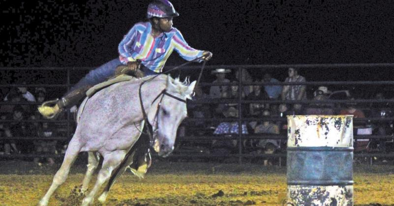 Kole Brackens competed in barrel racing on June 17at the Cowboy Heritage Church in Teague. Photo by Mitchell Pate